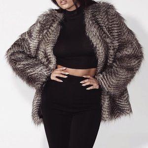 JLUXLABEL Faux Fur Coat